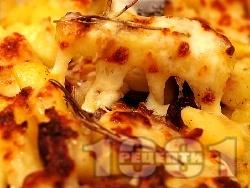 Запечени картофи с маслини и моцарела - снимка на рецептата